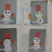 Конспект занятия по аппликации из ватных дисков «Снеговик» (средняя группа)