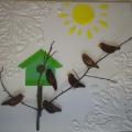 Мастер-класс по изготовлению коллективной работы «Скворушка прилетел» во 2 младшей группе детского сада.