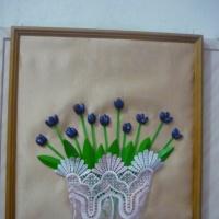 Фотоотчет «Объемная картина «Подснежники в вазе»