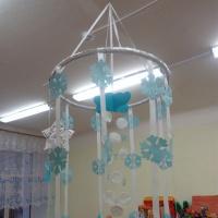 Подвесной модуль «Зима» для детского сада своими руками