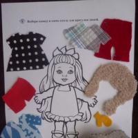Дидактическая игра для развития тактильного восприятия «Одень куклу по сезону» для детей 5–7 лет с нарушением зрения