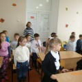 Фотоотчет «Экскурсия в школу. Посещение урока детьми детского сада»