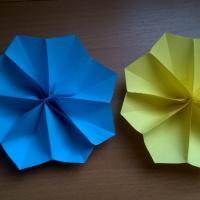 Изготовление объёмных цветов из цветной бумаги