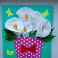 Изготовление поздравительных открыток с применением ватных палочек и дисков для 2,3,4 класса