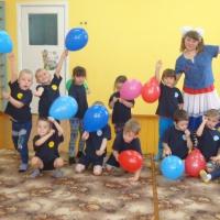 Фотоотчёт о физкультурном развлечении для детей старшей группы «Ты беги, весёлый мячик…»