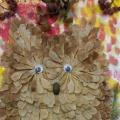 Мастер-класс поделки из природного материала «Совушка-сова»