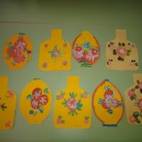 Декоративное рисование «Городецкая роспись деревянной доски» в старшей группе