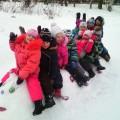 Фотоотчет «Снежные постройки для игр в детском саду» (старшая группа, январь 2015 г.)