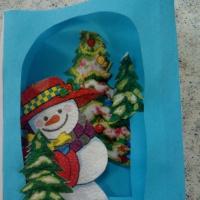 Мастер-класс «Изготовление новогодней 3-D открытки»