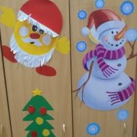 «Нарядные шкафчики». Новогоднее украшение приёмной
