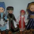Фотоотчет о выставке кукол в национальных костюмах