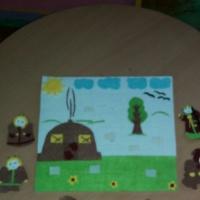 Развивающая игра из фетра на липучках «Сказочный мир»
