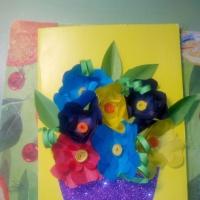 Аппликация «Ваза с цветами»