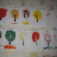 Конспект НОД по нетрадиционному рисованию мятой бумагой, поролоном, пальчиком «Осеннее дерево» в средней группе