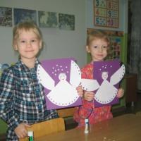 Детский мастер-класс по аппликации «Рождественский ангел» в средней группе