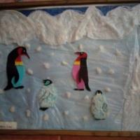 Аппликация на тему «Птицы Антарктики»