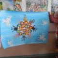 «Дадим шар земной детям!» Коллективная работа ко Дню защиты детей (вторая младшая группа).
