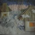Поделка из ниток «Зима»