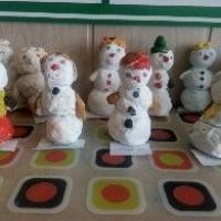 Мастер-класс «Как мы из солёного теста снеговиков лепили»
