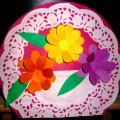 Подарок для мамочки «Корзина с цветами»