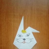 Мастер-класс по изготовлению игрушки из бумаги «Зайчик»