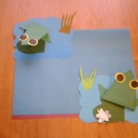 Мастер-класс по конструированию из бумаги «Лягушка»