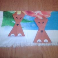 Мастер-класс по изготовлению игрушки из бумаги способом оригами «Лисичка»