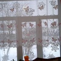 Новогоднее украшение окон «Зимние кружева»