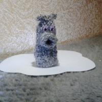 Мастер-класс вязаной пальчиковой игрушки из шерстяных ниток «Бегемот»
