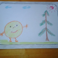 Фотоотчёт о рисовании во второй младшей группе «Нарисуй, кого ты хочешь увидеть по телевизору»