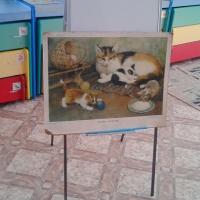 Фотоотчёт о занятии по развитию речи во второй младшей группе. Рассматривание сюжетной картины «Кошка с котятами»