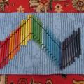 Массажные коврики из цветных карандашей и не только