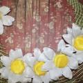 Летние цветы из ткани