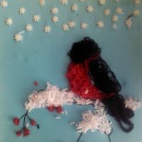 Конспект по изобразительной деятельности в нетрадиционных техниках аппликаций «Снегирь на ветке»