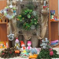 Фотоотчёт о новогодних поделках (совместное творчество детей и родителей)