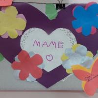 Мастер-класс по изготовлению открытки из картона и цветной бумаги к Дню матери