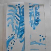 Фотоотчет о занятии по рисованию в средней группе «Морозные узоры»