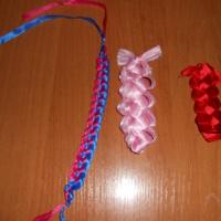Мастер-класс «Плетение из ленты»