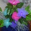 Мастер-класс. Объёмные цветы из капрона