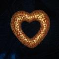 Сердечки из бросового материала