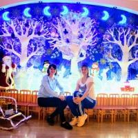 «Сказочный лес». Оформление музыкального зала к Новому году