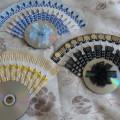 Поделки из различного бросового материала. Веер из одноразовых вилок