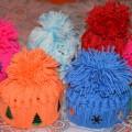 Мастер-класс «Разноцветные тёплые шапочки и Смайлики в шапочках»