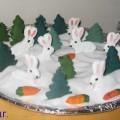 Зайчишки в лесу— тестопластика