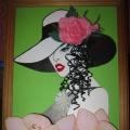 Интерьерное панно «Дама в шляпе»