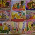 «Фруктовый натюрморт». Рисунки детей среднего и старшего возраста