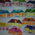 Конструирование способом оригами с элементами аппликации «Домик»