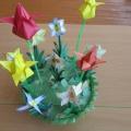 Мастер-класс по изготовлению макета «Клумба с цветами»