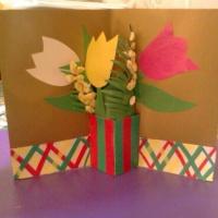 Мастер-класс по изготовлению открытки «Тюльпаны»
