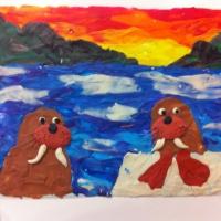 Мастер класс по пластилинографии для детей 7 лет «Моржи».